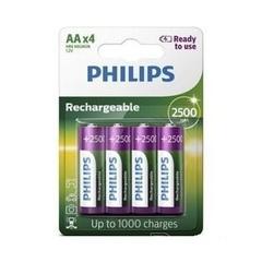 Аккумуляторы Philips MultiLife Ni-MH R6 (2450mAh) 4шт.