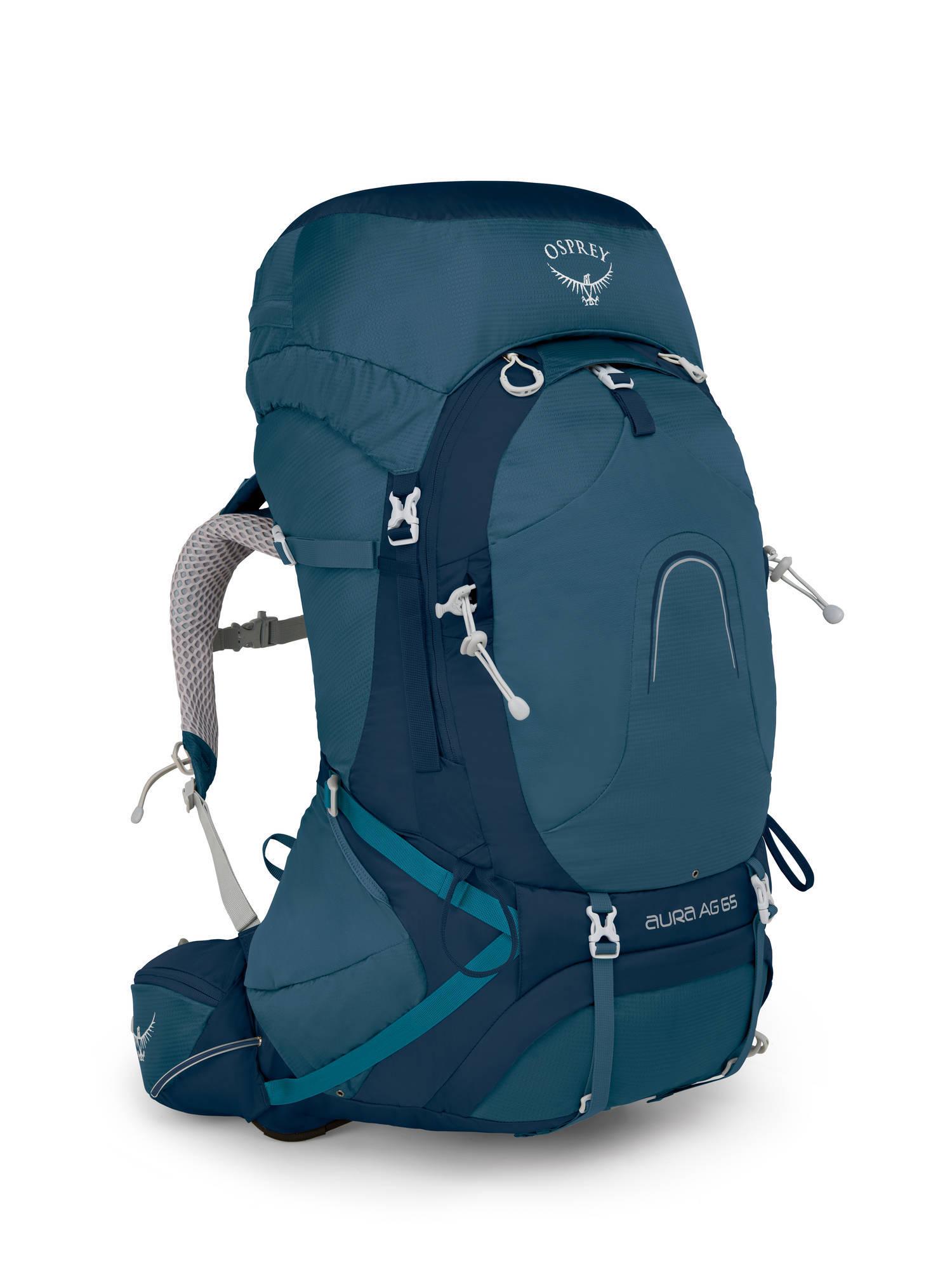 Туристические рюкзаки Рюкзак женский Osprey Aura AG 65 Women's Challenger Blue Aura_AG_65_S18_Side_Challenger_Blue_web.jpg