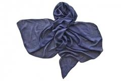 Палантин из вискозы синий 1376