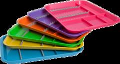 Лоток плоский для инструментов секционный фиолетовый.