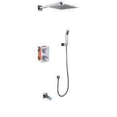 Смеситель KAISER Sonat 34577 скрытый монтаж с верхним душем и изливом (комплект 5 позиций)  2