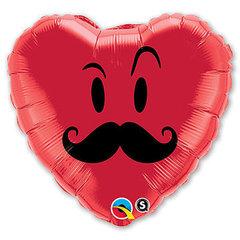сердце 46 см с рисунком