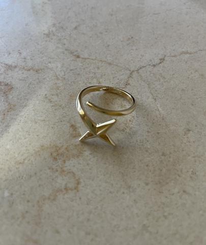 Кольцо Комета, позолота