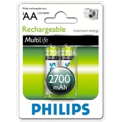 Аккумуляторы Philips MultiLife Ni-MH R6 (2700mAh) 2шт.
