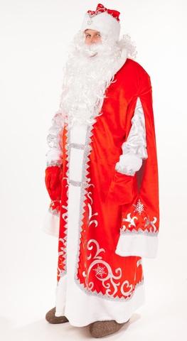 Костюм Дед Мороз премиум красный