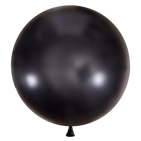 Большой шар металлик черный