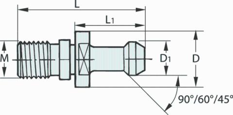 Штревель 45° герметизированный без отверстия
