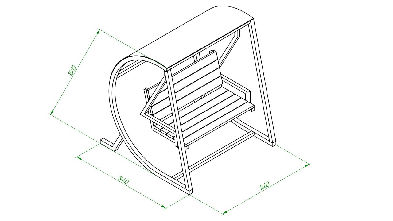 Скамейка качель SCAM0201