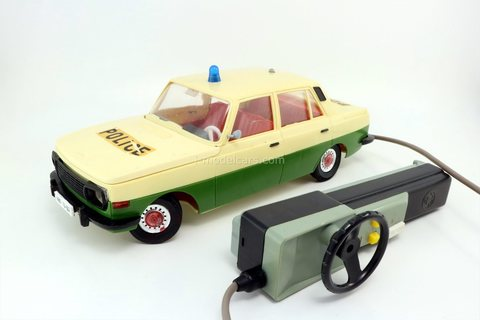 Wartburg 353 police with remote control DDR VEB Piko Anker 1:15