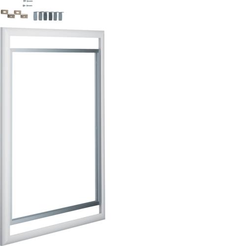Дверца со сменной вставкой (иллюстративная, зеркальная) для встраиваемого Volta,3-рядного, белая
