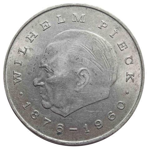 20 марок. Первый президент ГДР - Вильгельм Пик. (A). Германия-ГДР. Медноникель. 1972 год.VF
