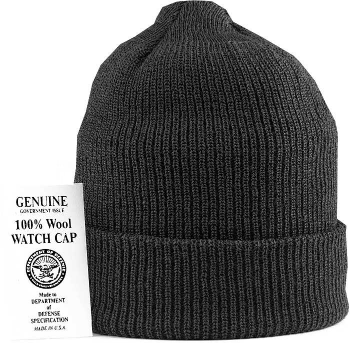 Шапка - GENUINE Watch Cap Wool (черная)