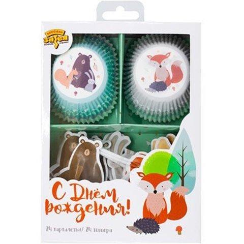 Декор-комплект для кексов Лесные Друзья