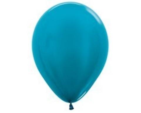 Шарики цвета карибский голубой (металлик)