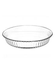Круглая форма для запекания 1,72 литра Borcam 59044 жаропрочная стеклянная форма для СВЧ 26x4,5 см прозрачная вкладыш