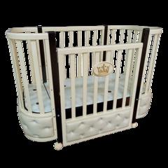 Кровать детская Антел Есения-1 с кожаной вставкой слоновая кость