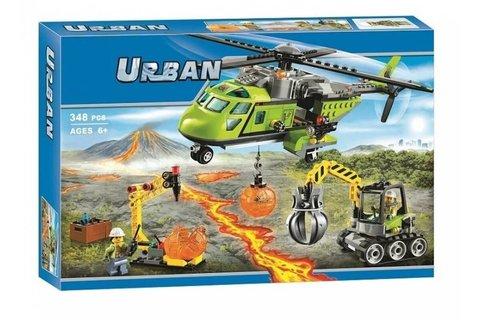 Конструктор Urban 10640 Грузовой вертолет исследователей вулканов