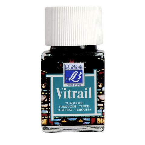 Краска по стеклу Lefranc&Bourgeois VETRAIL 50 мл 050, турецкий голубой