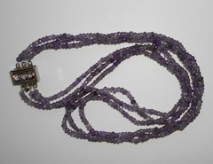 Ожерелье из аметистов в три ряда, 47 см