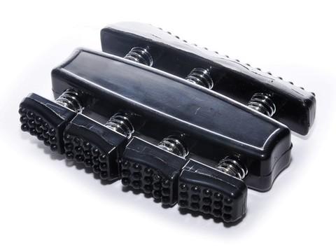 Эспандер для пальцев кистей рук. Материал: пластмасса, металл. Размер 90х70х23 мм.  1307