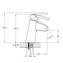 Фото размеры смесителя для умывальника Zegor SWF1-A113