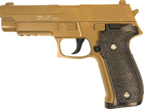 Страйкбольный пистолет Galaxy G.26D SIG226 металлический, пружинный