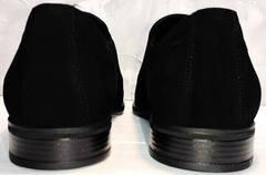 Вечерние туфли замша мужские Ikoc 3410-7 Black Suede.