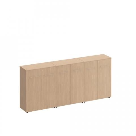 Шкаф для документов закрытый средний(стенка из 3 шкафов) (274x46x120)