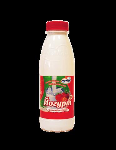 Йогурт питьевой Клубника 1,5% 0,45 л пл/б МолКом КАЗАХСТАН