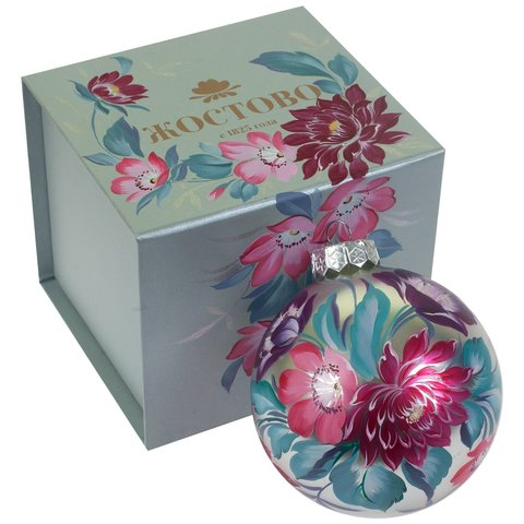 Christmas ball in paper painted box SH02D13112020003