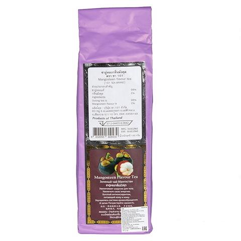 Зелёный чай со вкусом Мангостина. 100 гр.