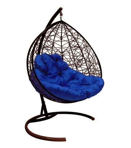 Кресло подвесное Lagos TWIN brown/blue