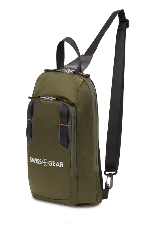 Рюкзак мужской зелёный хаки на одно плечо 18х5х33 см 4л SWISSGEAR 3992606550