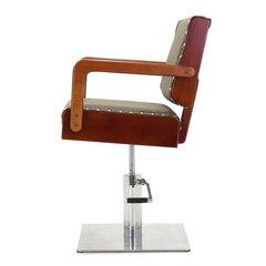 Гидравлическое кресло для барбершопов Med-Mos LEA-2 (ММ-481А) с Регистрационным удостоверением