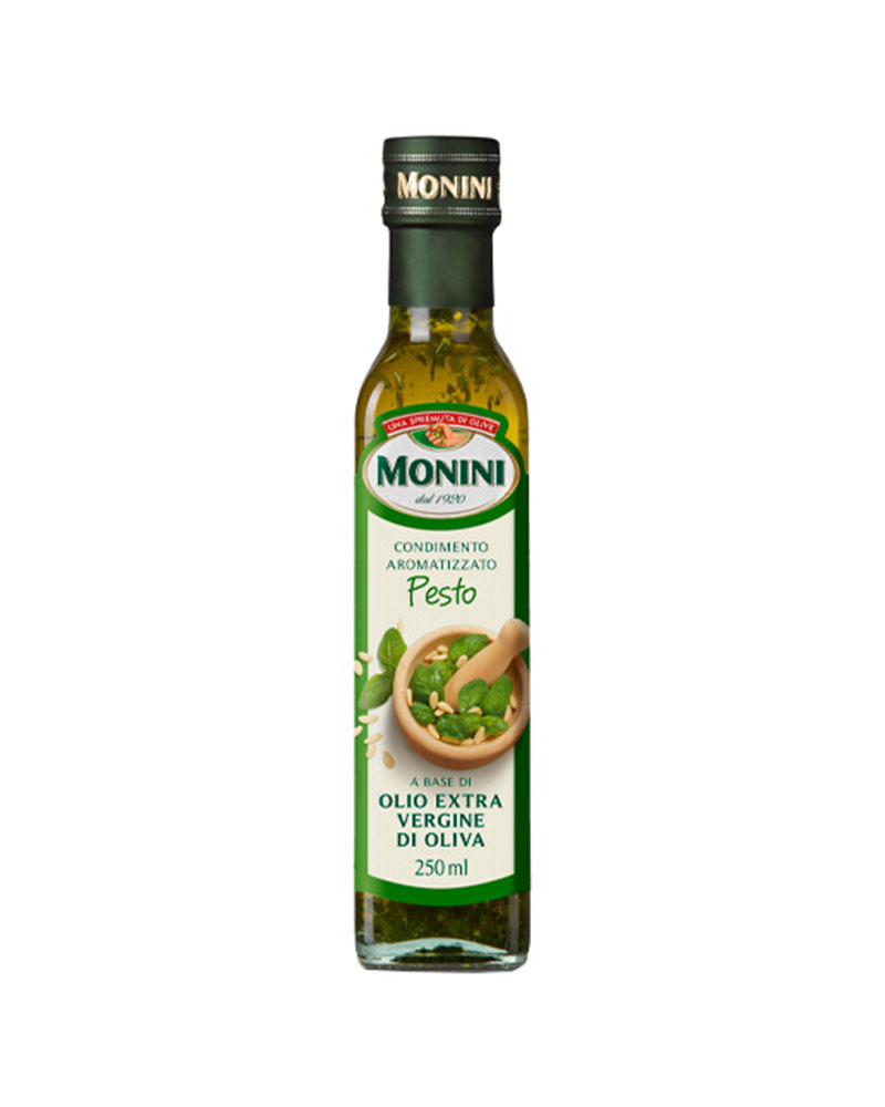Масло оливковое Monini Экстра Вирджин Pesto с Базиликом 250 мл.