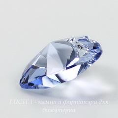 6228 Подвеска Сваровски Сердечко Light Sapphire (28 мм)
