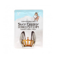 Маска тканевая с паровым кремом Elizavecca Silky Creamy donkey Steam Cream Mask Pack 25гр