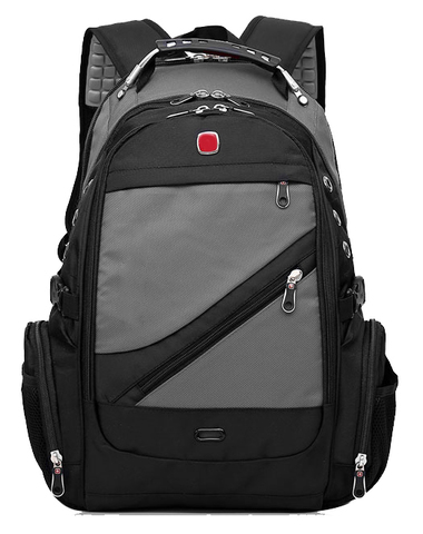 Швейцарский рюкзак 8810 USB СЕРЫЙ