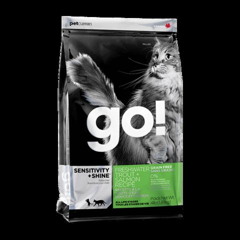 Go! Sensitivity + Shine Сухой корм для кошек и котят с чувствительным пищеварением с форелью и лососем (беззерновой)