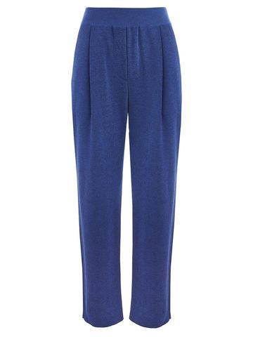 Женские брюки синего цвета из вискозы - фото 1