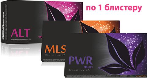 APL. Набор аккумулированных драже APLGO. ALT+MLS+PWR man для мужского здоровья по 1 блистеру