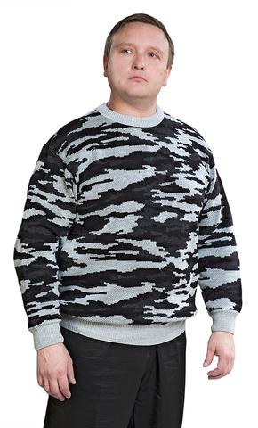 Джемпер мужской серый КМФ