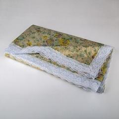 Скатерть виниловая тисненая с ажурной каймой 152х228см водонепроницаемая ТД5-0076
