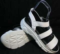 Летние женские сандали из натуральной кожи Evromoda 3078-107 Sport White