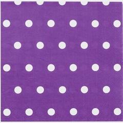 Салфетка Горошек фиолетовая