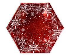 Тарелки фигурные Снежные Искры 25 см, 6 шт, 1 уп.