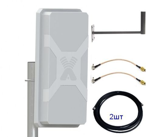 Антенный комплект Mimo с антенной для LTE модемов Антенный комплект с антенной для LTE модемов Nitsa Дача-Универс-14db