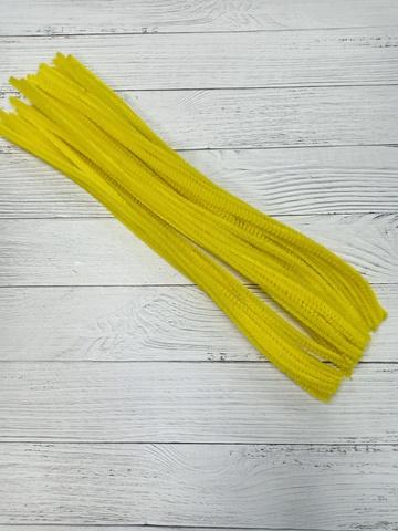 Проволока синельная, цвет жёлтый, размер 30см, 30 шт