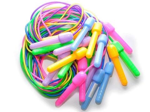 Скакалка (шнур силикон, ручки пластик) 2,2 м. Продажа только упаковкой 10 шт С1116