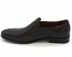 Коричневые кожаные полуботинки на гибкой подошве